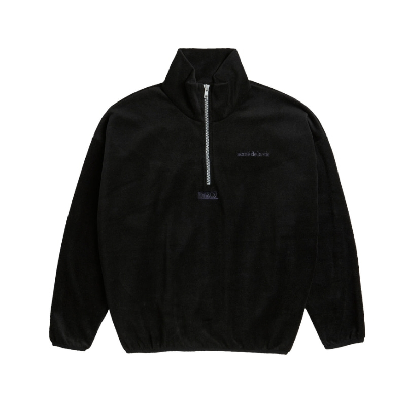 ADLV EMBROIDERY FLEECE JACKET BLACK