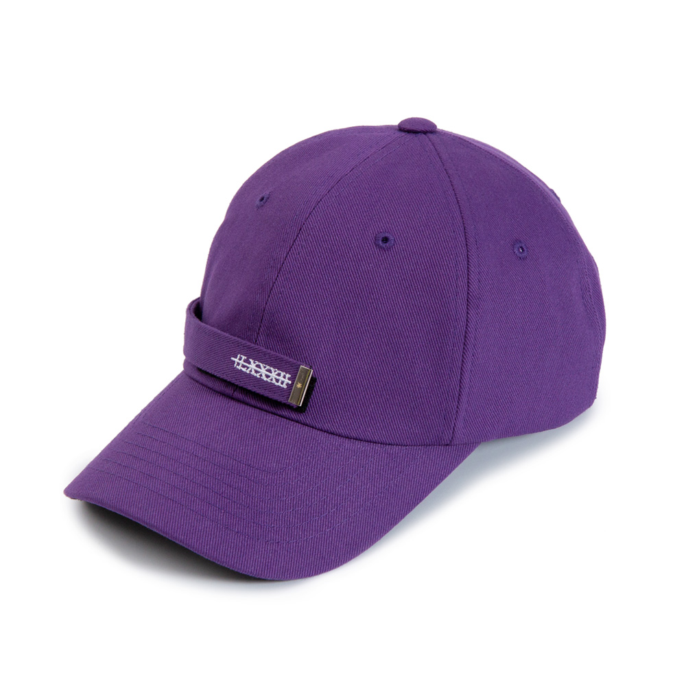 [BLACKBLOND] BBD PATCH LONG STRAP CAP (PURPLE)