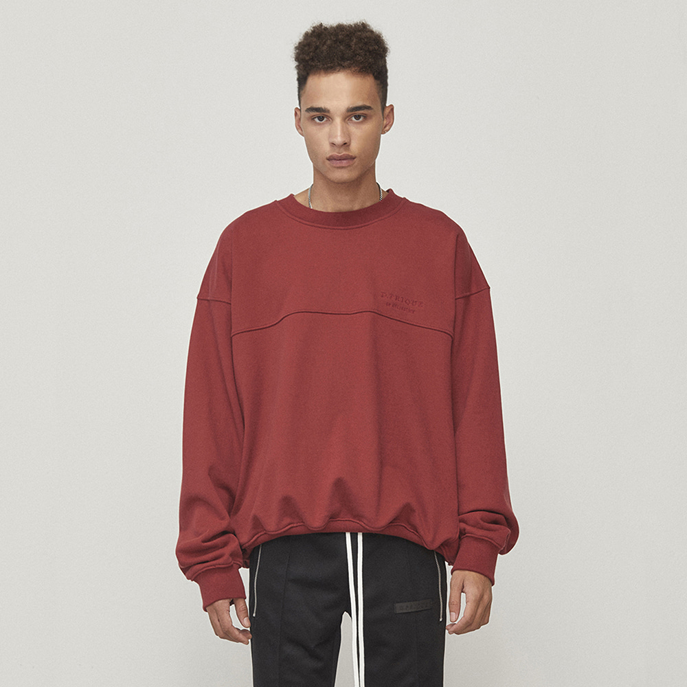 OVERSIZED SWEATSHIRT (RED)