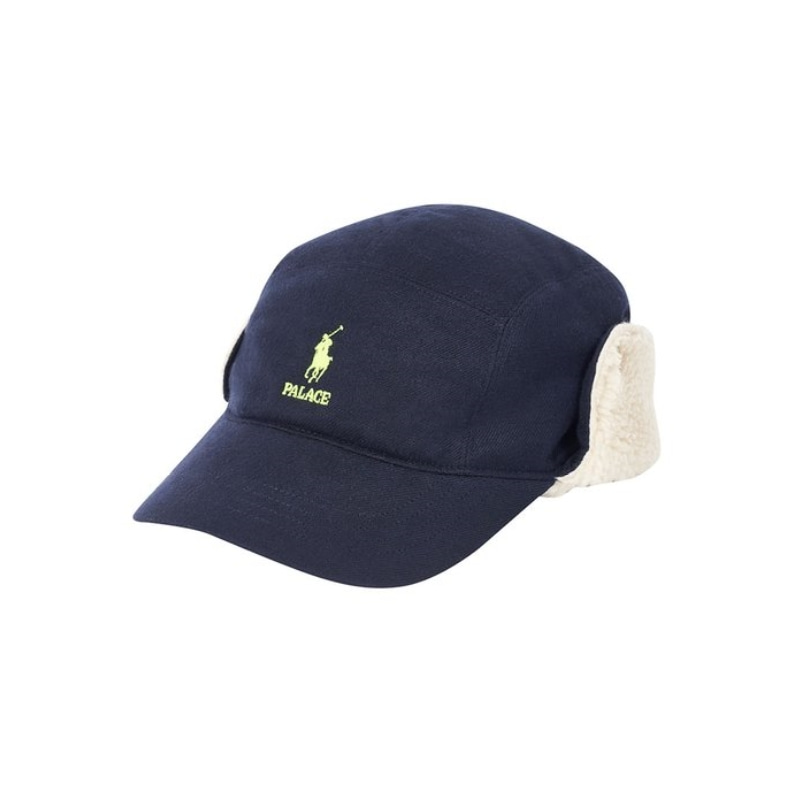 PALACE RALPH LAUREN HUNTING CAP POLAR FLEECE AVIATOR NAVY