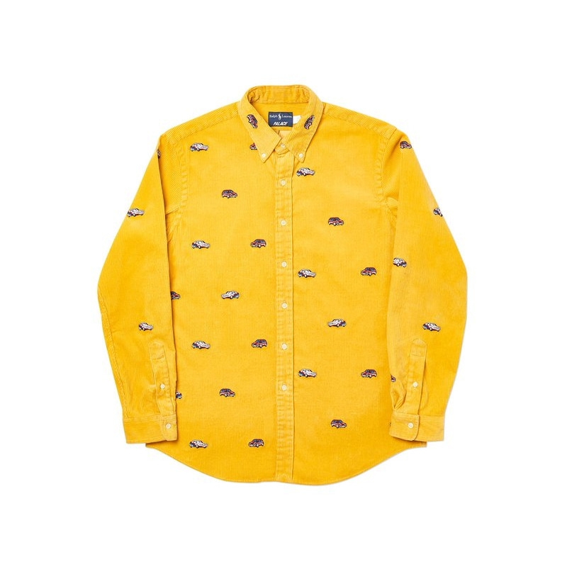 PALACE RALPH LAUREN EMBROIDERED CORD GTI SHIRT PALAZZO YELLOW