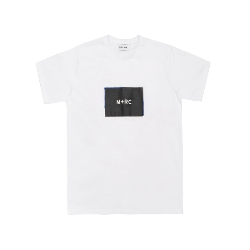STITCHED BOX LOGO T-SHIRT WHITE