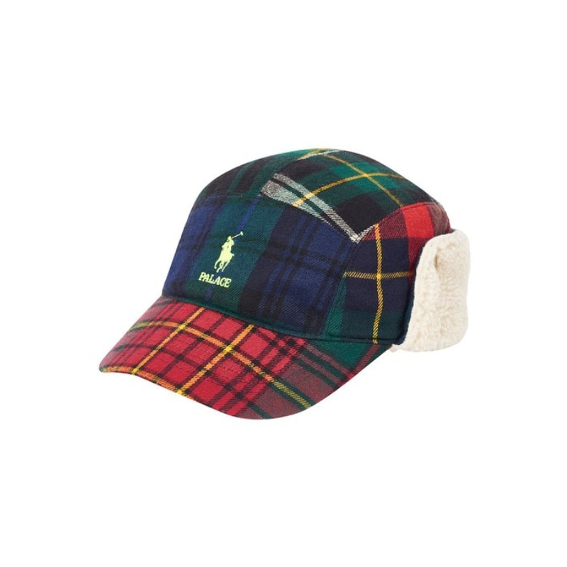 PALACE RALPH LAUREN HUNTING CAP POLAR FLEECE PLAID MULTI