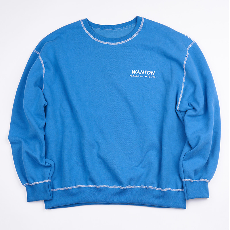 STITCH LOGO SWEATSHIRTS BLUE