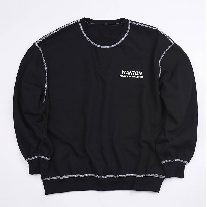STITCH LOGO SWEATSHIRTS BLACK