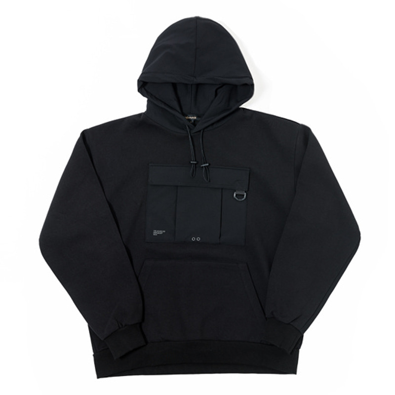 UTILITY WASHING HOODIES (BLACK)