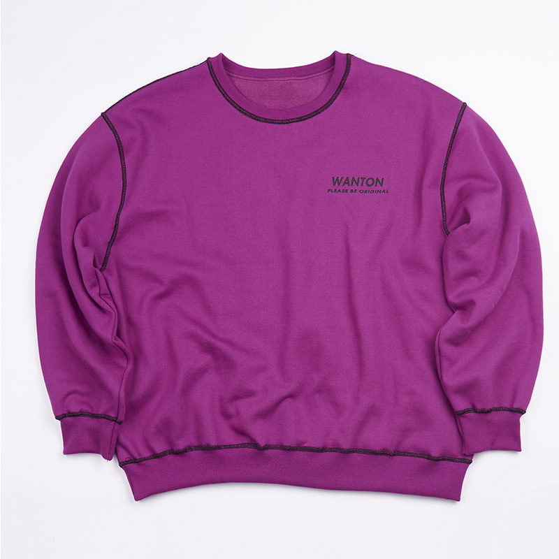 STITCH LOGO SWEATSHIRTS PURPLE