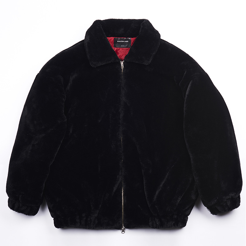 FAKE FOX FUR JAKET BLACK