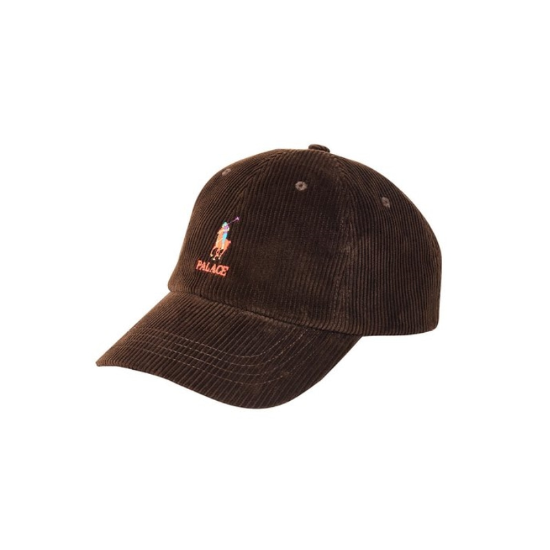 PALACE RALPH LAUREN CLASSIC POLO CAP CORDUROY MOHICAN BROWN