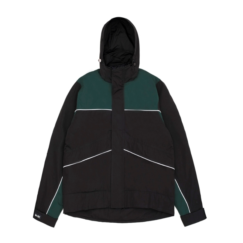 SKI JACKET BLACK / GREEN