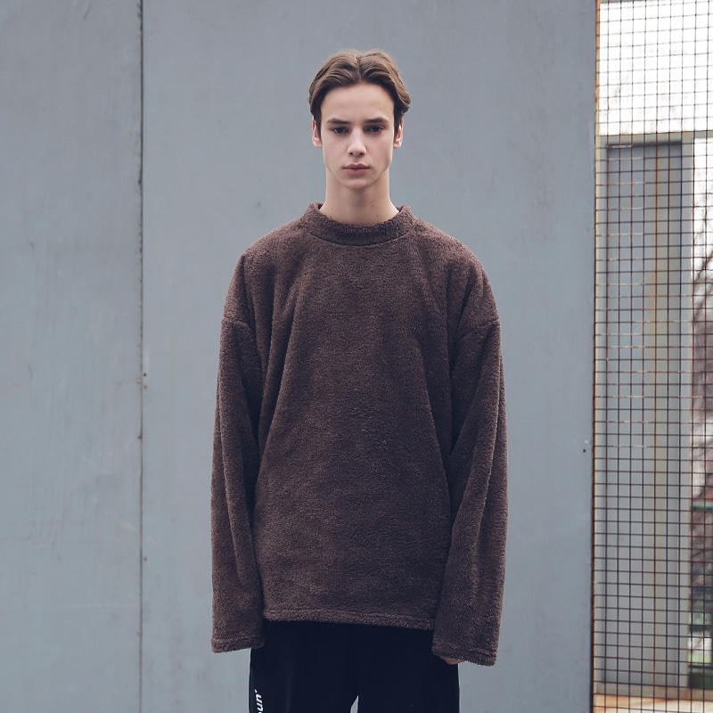 SOFT WOOL SIDEVENT CREW NECK MFECR006-BR