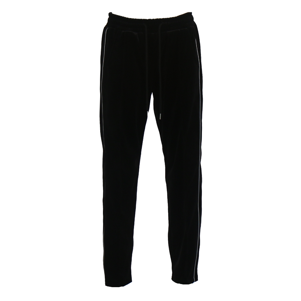 REFLECT VELVET TRACK PANTS (BLACK)
