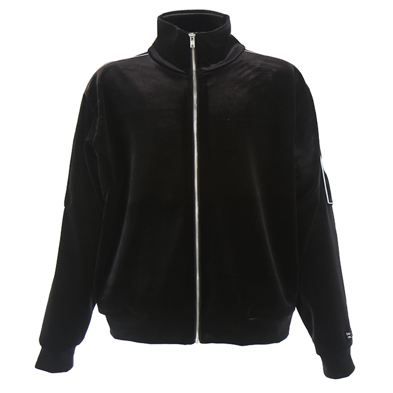 REFLECT VELVET TRACK JACKET (BLACK)
