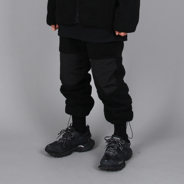 FLEECE JOGER PANTS BLACK