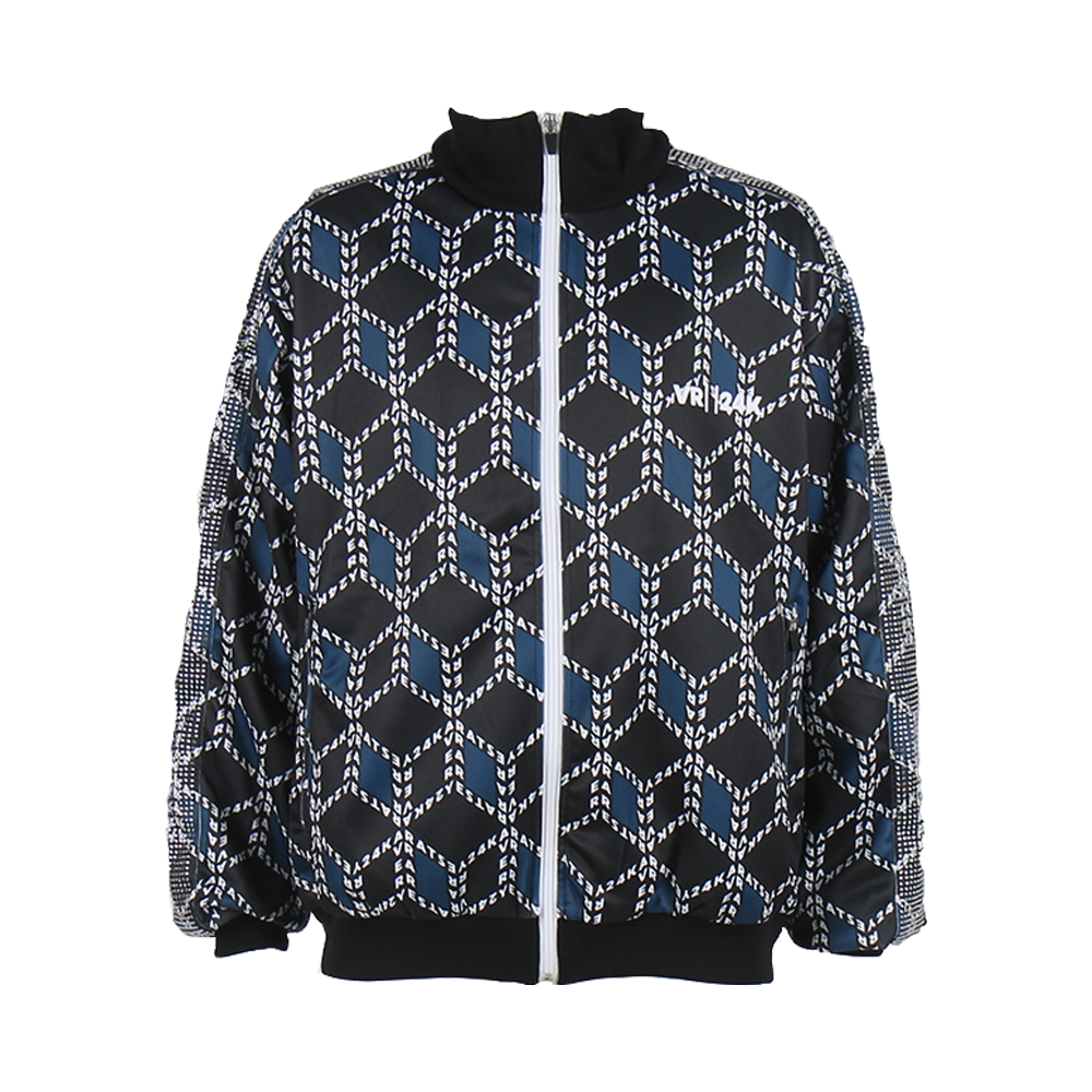 VR24K PATTERN TRACK JACKET (BLACK/BLUE)