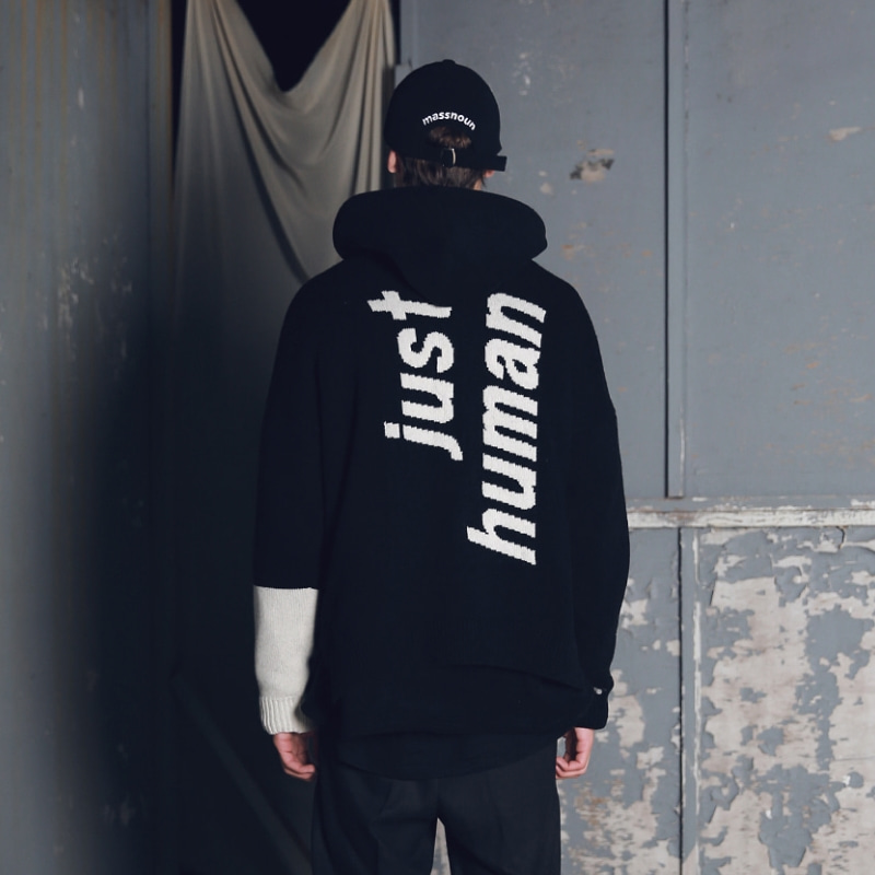 LAMBSWOOL INCISION SB OVERSIZED KNIT MFENT001-BK