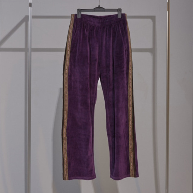 VELOURS TRACK PANTS (PURPLE)
