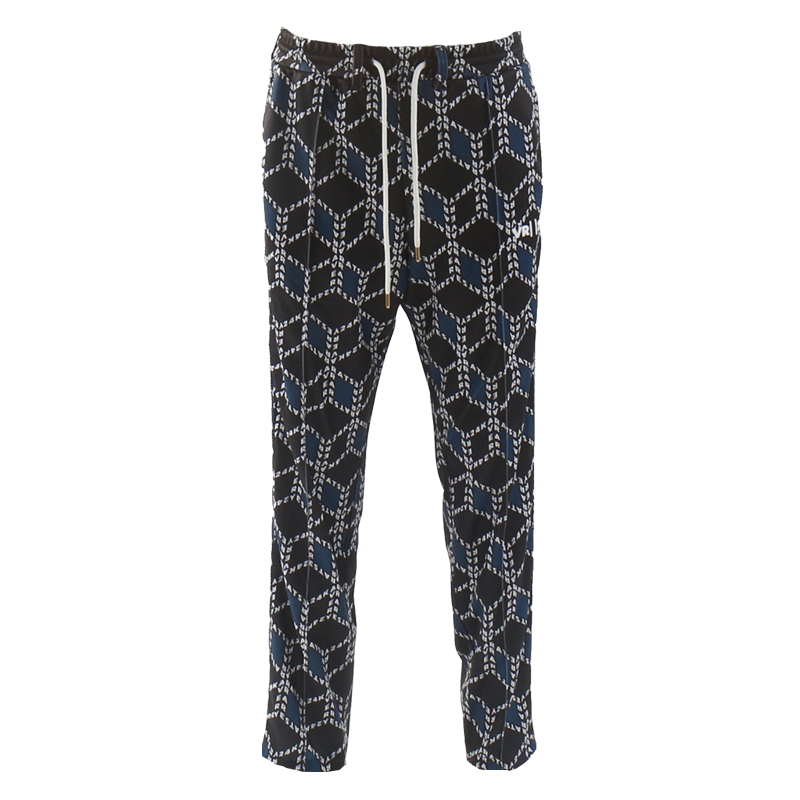 VR24K PATTERN TRACK PANTS (BLACK/BLUE)