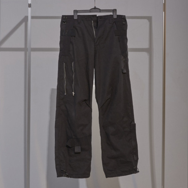 019 WEBBING PANTS BLACK
