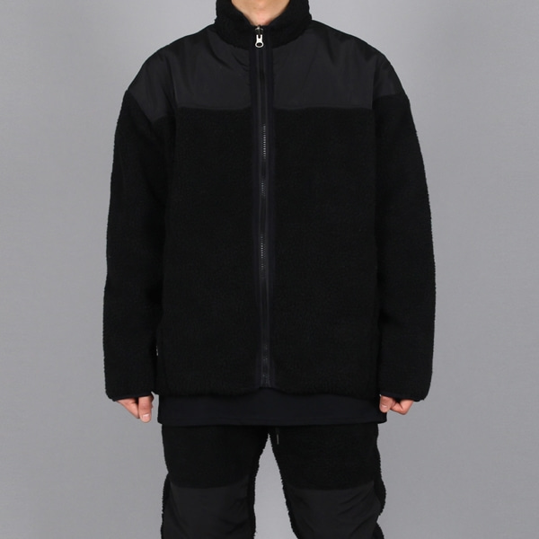 REVERSIBLE FLEECE JACKET BLACK