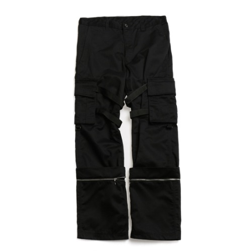 BLACK COZY BUCKLE PANTS