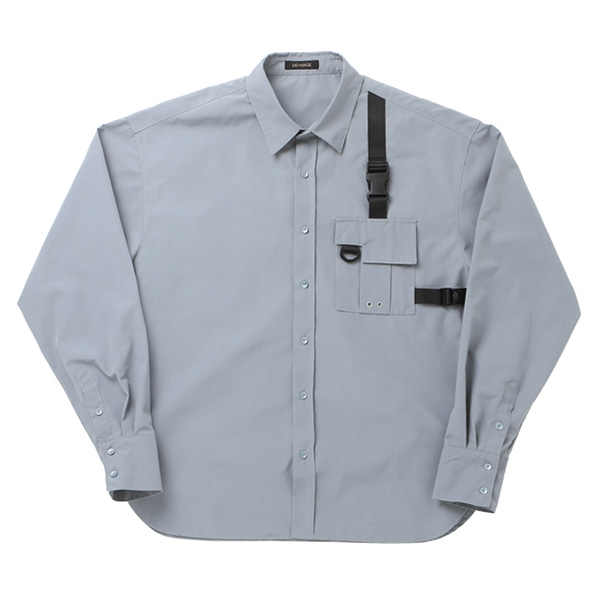 POCKET TECH WEAR OVER SHIRT LIGHT GRAY