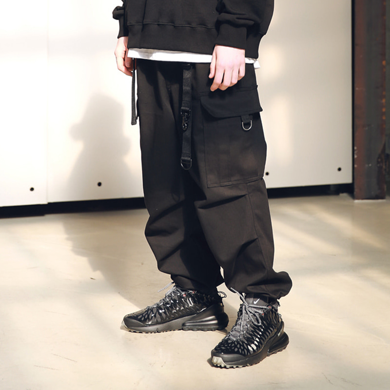 D-RING EASY CARGO STRING PANTS MSNCP001-BK
