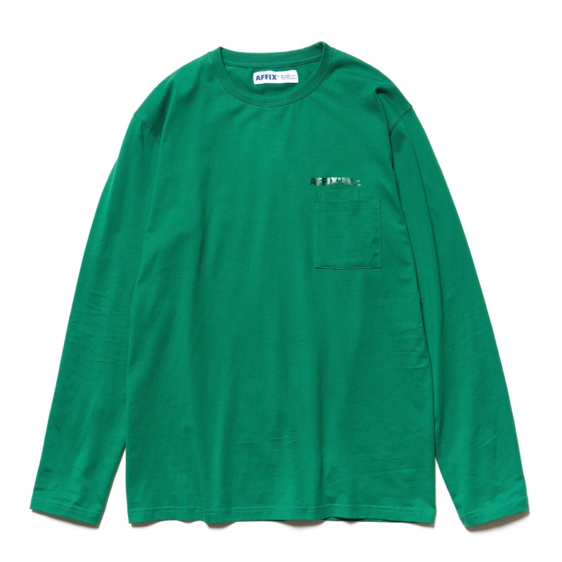 DOUBLE CHEST POCKET LS T-SHIRT SERVICE GREEN
