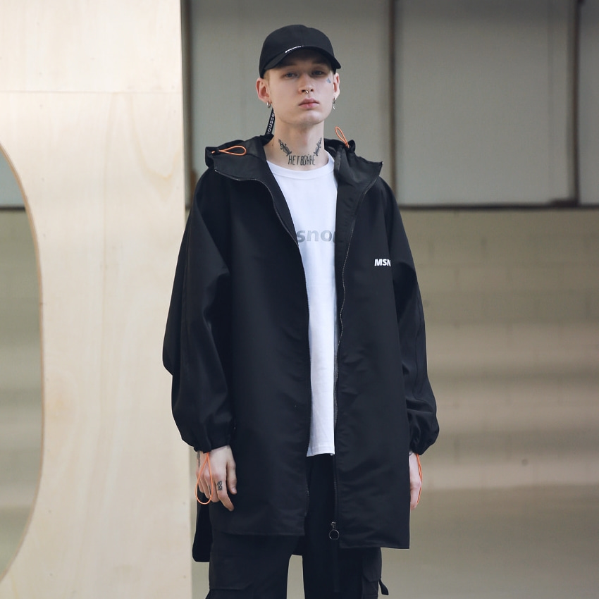 SB STREET OVERSIZED RAINCOAT MSNCT001-BK