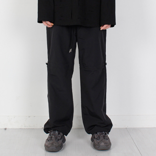 [BURJ SURTR] NYLON TRACK PANTS BLACK