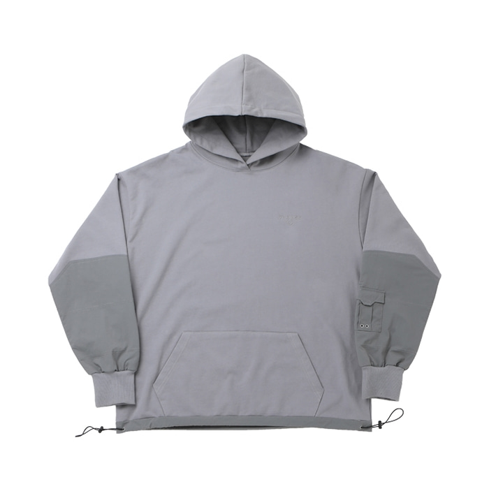ARM POCKET OVER SIZE HOODIES GRAY