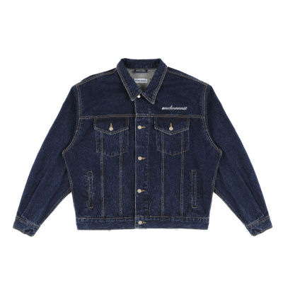 18 BACK ZIPPER DENIM TRUCKER JK - WASHED BLUE