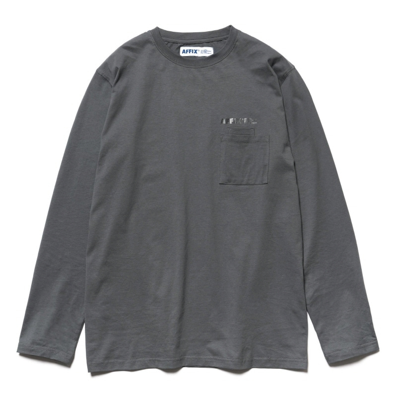 DOUBLE CHEST POCKET LS T-SHIRT UTILITY GRAY