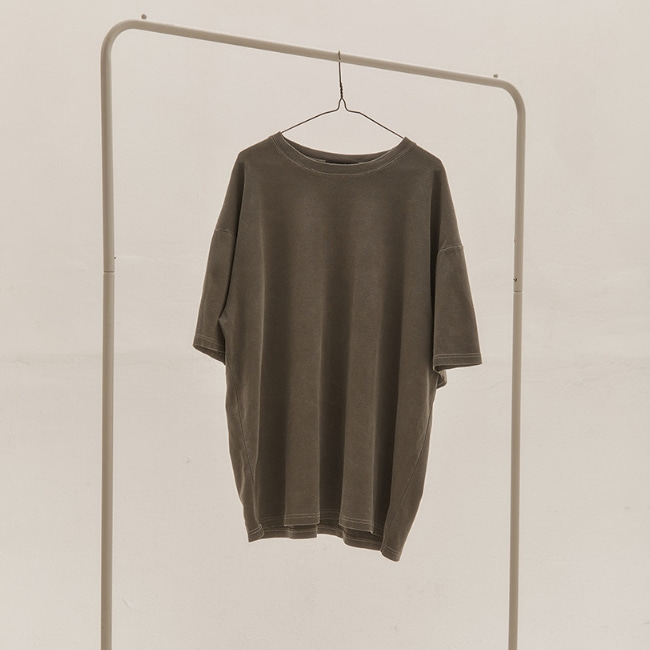 BASIC OVER T-SHIRT V2 WASHED CHARCOAL