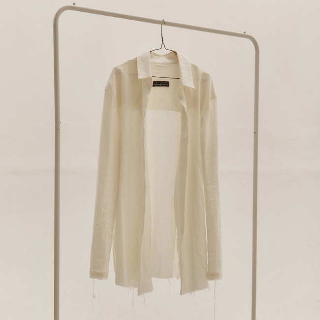 PLEATED CUTTING SHIRT IVORY