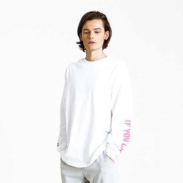 KITSCH ME IF YOU CAN WHITE/PINK LONG SLEEVE