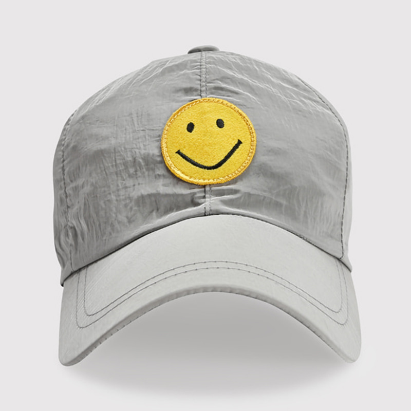 SMILE NYLON BALL CAP (GRAY)