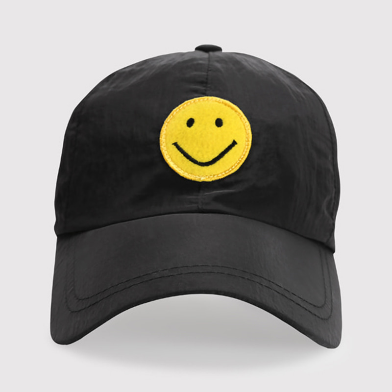 SMILE NYLON BALL CAP (BLACK)