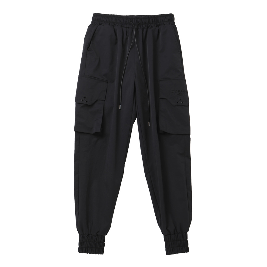 SIGNATURE CARGO JOGGER PANTS BLACK