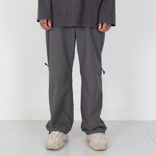 [BURJ SURTR] NYLON TRACK PANTS GRAY