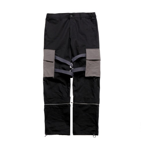 GREY COZY BUCKLE PANTS