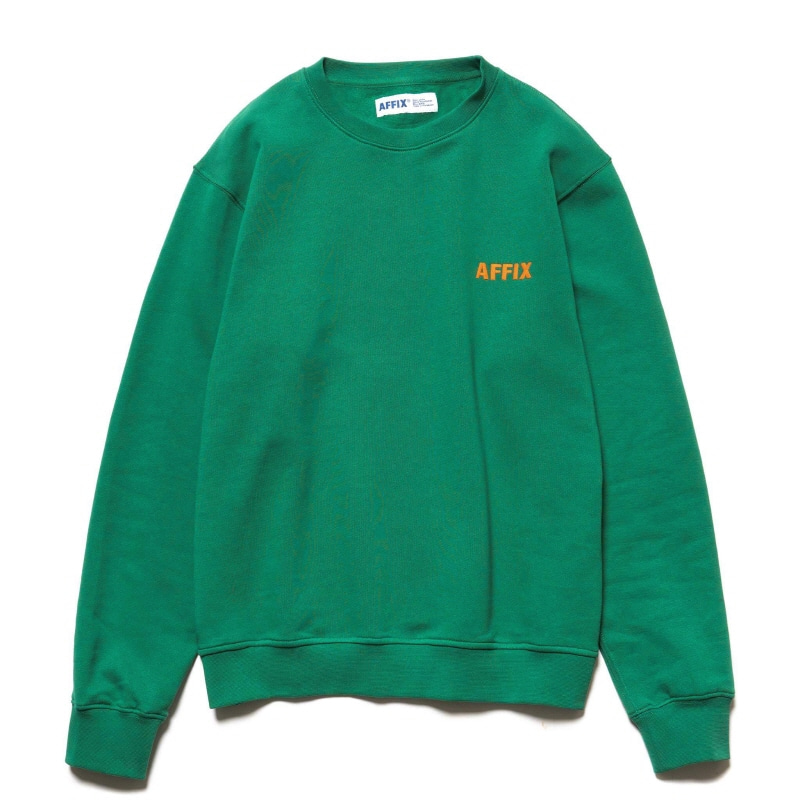 CHEST EMBROIDERY CREWNECK SERVICE GREEN