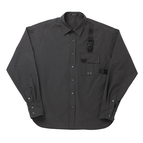 POCKET TECH WEAR OVER SHIRT GRAY