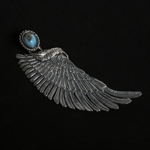 EAGLE WING WITH TURQUISE PENDANT