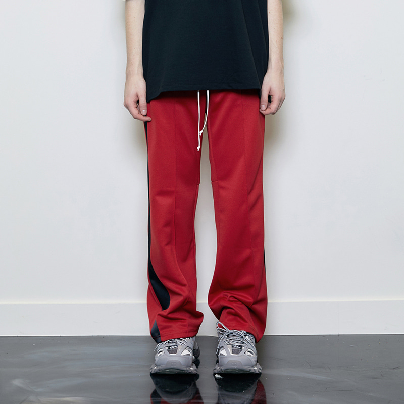 TRACK PANTS (RED/BLACK)