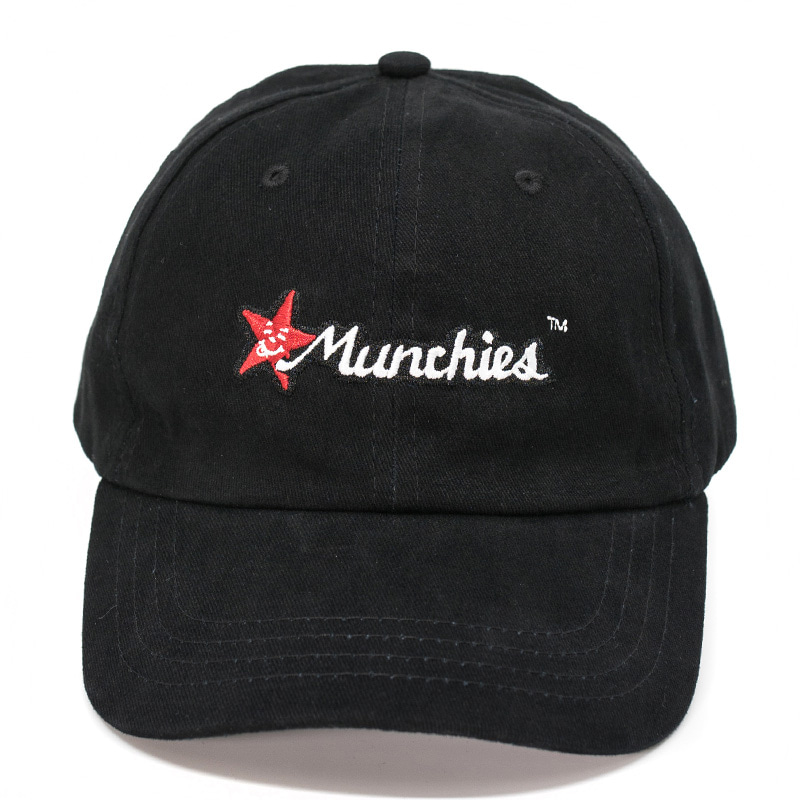 MUNCHIES CAP (BLACK/RED)