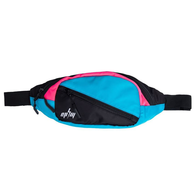 COLOR BLOCK CROSS BODY BAG (TEAL)