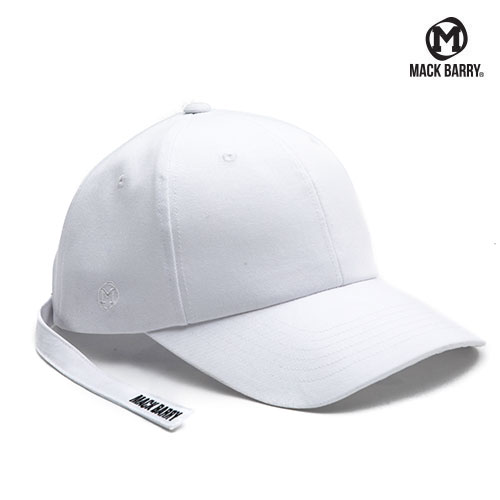 MACK BARRY MIDDLESTRAP CURVE CAP WHITE