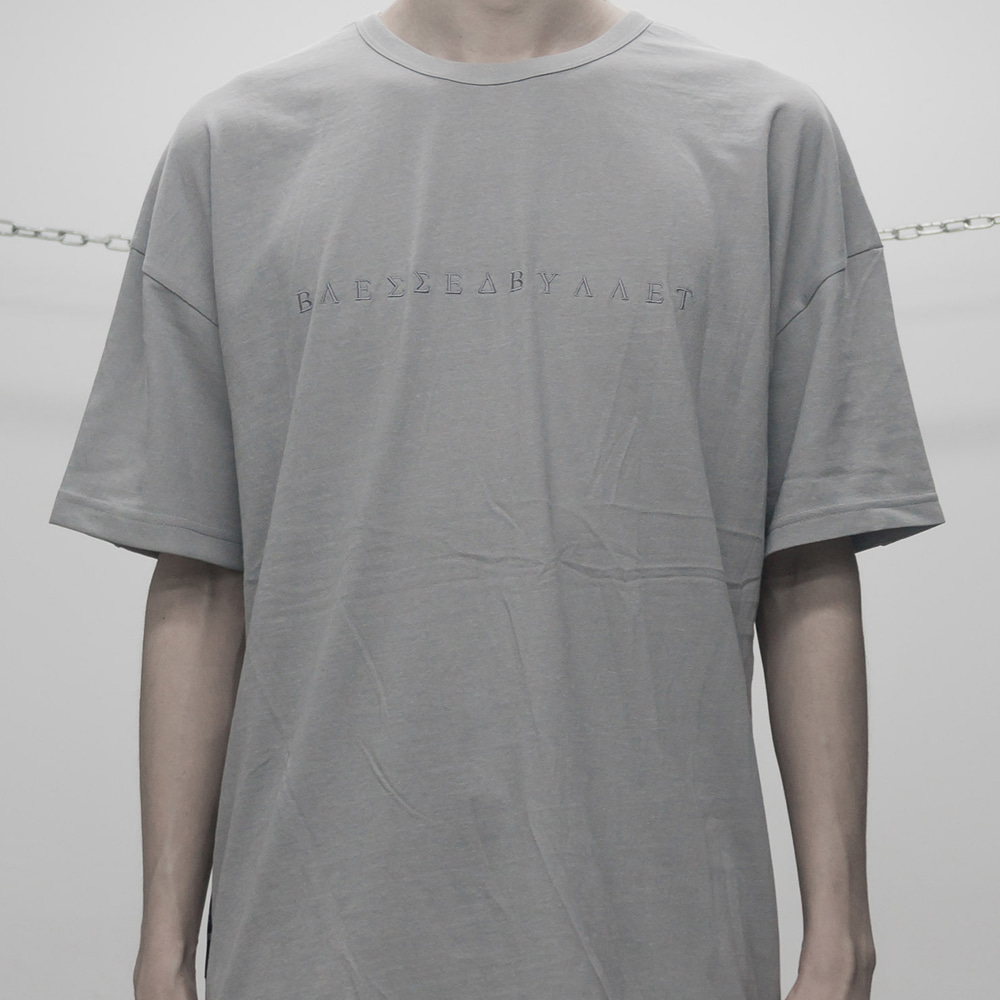 FADED SHORT SLEEVE (WHITE GREY)
