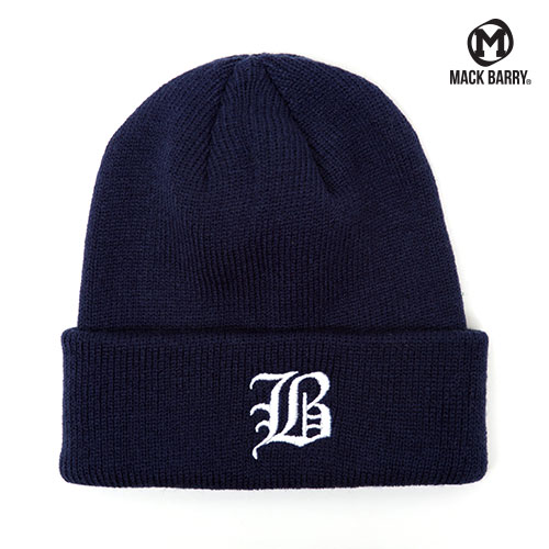 OLD B LOGO HEAVY WEIGHT BEANIE (NAVY)